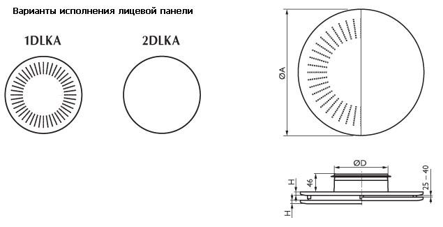 Диффузоры 1DLKA/2DLKA