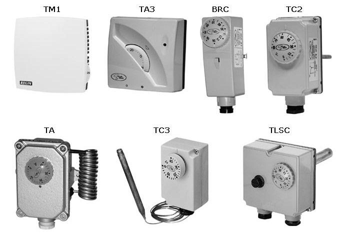 Термостаты TA / ERT / BRC / TC / PBFP / FL