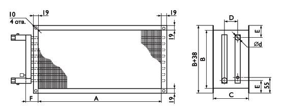 Канальные водяные теплообменники для прямоугольных воздуховодов PBAS